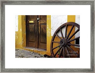 Wagon Wheel Framed Print by Carlos Caetano