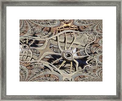 Wagon Wheel Fractal Framed Print