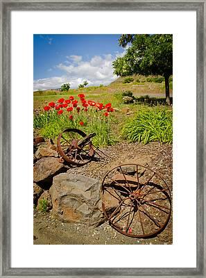 Wagon Wheels Framed Print by Jen TenBarge
