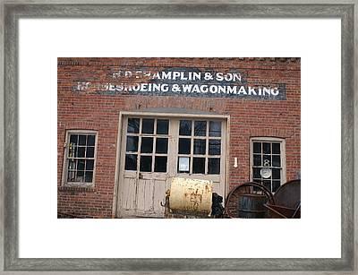 Wagonmaking Framed Print by Margaret Steinmeyer