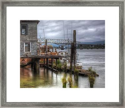 Wahkikakum Docks Framed Print