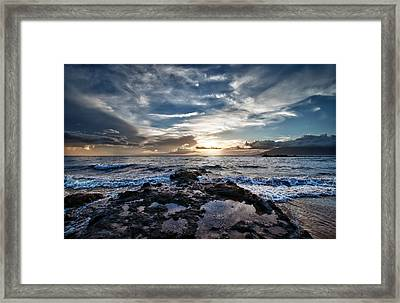 Framed Print featuring the photograph Wailea Sunset by John Maffei
