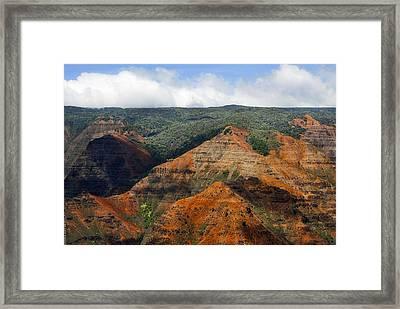 Waimea Canyons Framed Print by Debbie Karnes