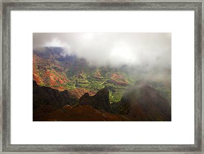 Waimea Revealed Framed Print by Mike  Dawson