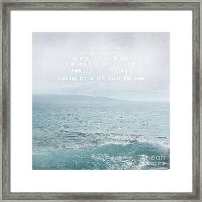 Waiola Water Of Life Framed Print by Sharon Mau