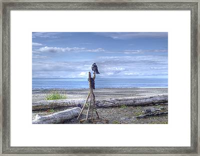 Framed Print featuring the photograph Waiting And Watching by Michele Cornelius