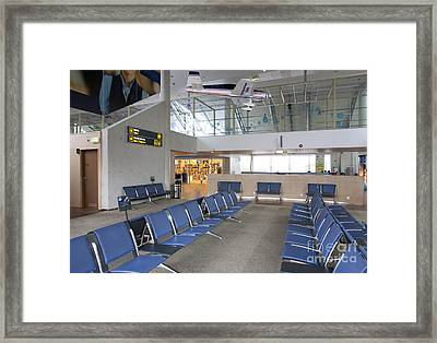Waiting Area At An Airport Gate Framed Print