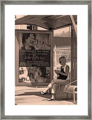 Waiting For Bus Framed Print by Viktor Savchenko