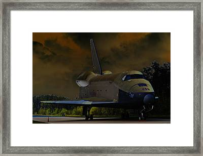 Waiting For Discovery Framed Print by Lawrence Ott