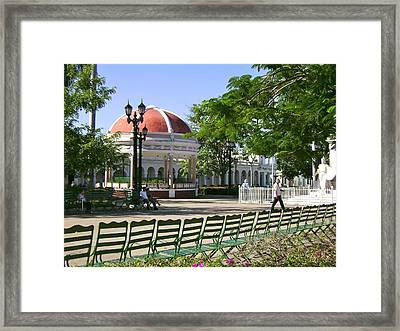 Waiting For Enrico Caruso Framed Print by Laurel Fredericks