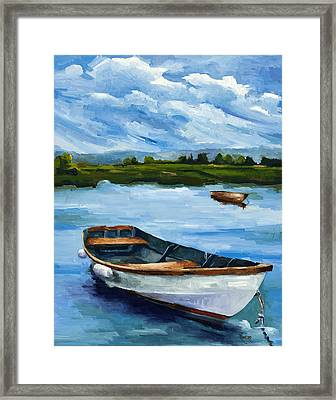 Waiting For Fish Framed Print by Jose Romero