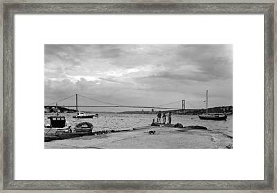 Waiting For Fish Framed Print by Kantilal Patel