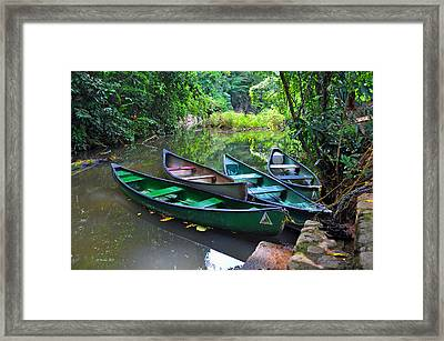 Waiting For Passengers Framed Print by Li Newton
