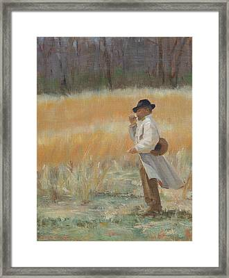 Waiting For Reinforcements Framed Print by Sandra Harris