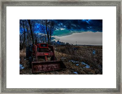 Framed Print featuring the photograph Waiting For Spring by Kimberleigh Ladd