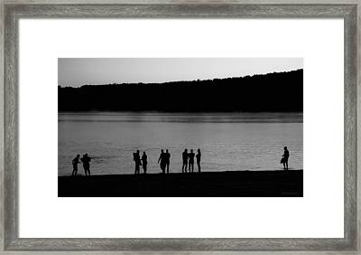 Waiting For Sunrise Framed Print by Carol Hathaway