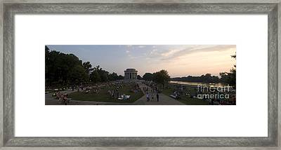 Waiting For The 4th Framed Print by Benjamin Martinson