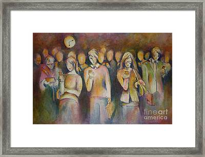 Waiting For The 6 15 Train Framed Print by Sandra Taylor-Hedges