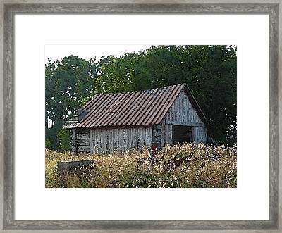 Waiting For The Harvest Framed Print by Jerry Hellinga