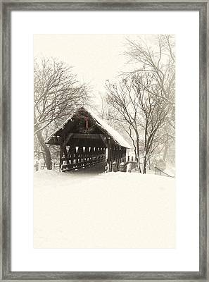 Waiting For The Sleigh Framed Print by Andrew Soundarajan