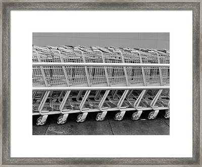 Waiting For The Suburbanites Framed Print by Luis Esteves