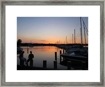 Waiting For The Sunrise Framed Print by Valia Bradshaw