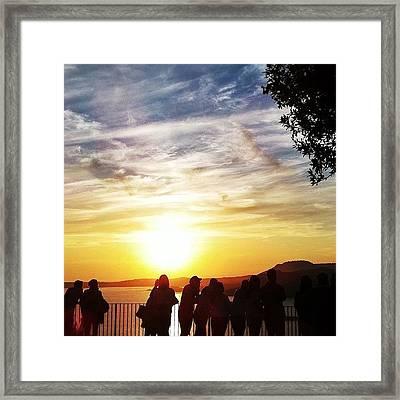 Waiting For The Sunset   Framed Print