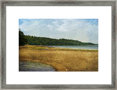 Waiting For The Tide Framed Print by Terrie Taylor