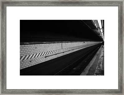 Waiting For The Train - New York City Framed Print