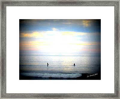 Waiting For The Wave Framed Print by Mily Iriarte