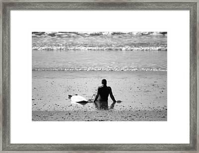 Waiting For The Wave Framed Print by Zarija Pavikevik