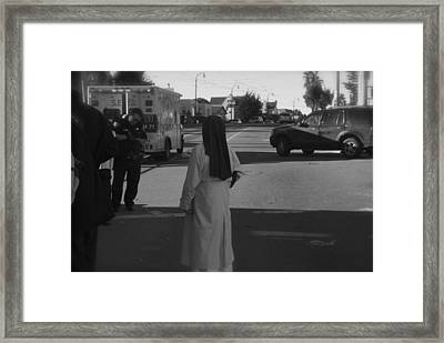 Waiting For The World To Change Framed Print by Thomas Brown