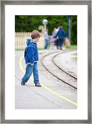 Waiting For Train Framed Print