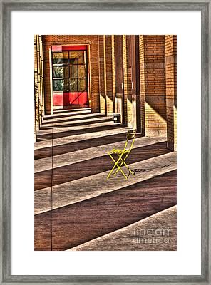 Waiting In Between Framed Print by Anca Jugarean