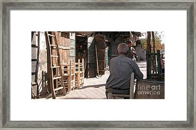 Waiting In Damascus Framed Print by Issam Hajjar