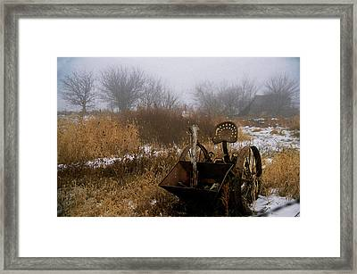 Framed Print featuring the photograph Waiting In The Fog by Kimberleigh Ladd