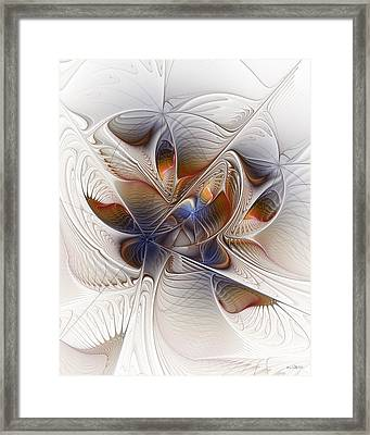Framed Print featuring the digital art Waiting In The Wings by Kim Redd