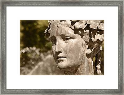 Waiting Framed Print by Mary Machare