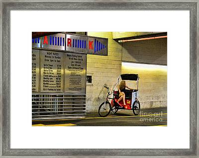 Waiting On A Ride Framed Print by Paul Ward