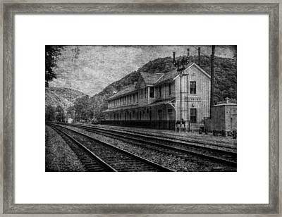 Waiting On The Ghost Train Framed Print by Christine Annas