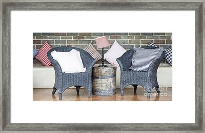 Waiting Room With Two Armchairs Framed Print by Chavalit Kamolthamanon