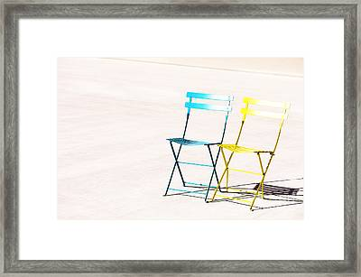 Waiting Together Framed Print by Anca Jugarean