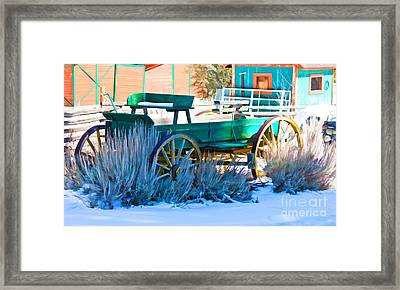 Waiting Wagon Framed Print