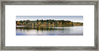 Walden Pond Panorama I Framed Print by Thomas Marchessault