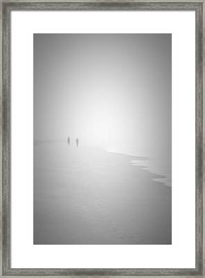 Walk In The Fog Framed Print