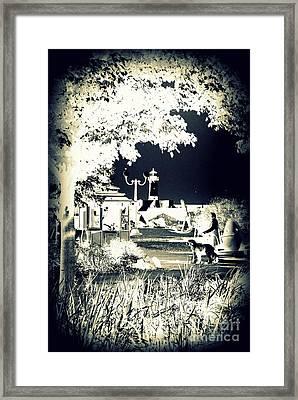 Walk In The Park By The Sea Framed Print by Alex Blaha