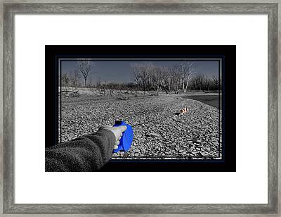 Walk Me Framed Print