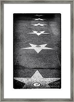 Walk Of Fame Framed Print by John Rizzuto
