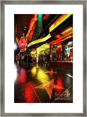 Walk Of Fame Framed Print by Yhun Suarez