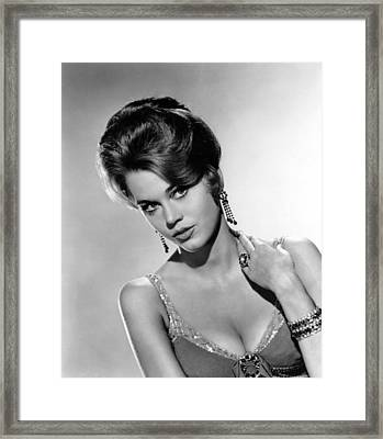 Walk On The Wild Side, Jane Fonda, 1962 Framed Print